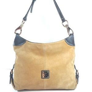 Dooney & Bourke Suede Handbag Shoulder Bag Purse